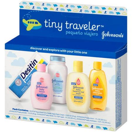Johnson's tiny traveler baby gift set, 5 Items