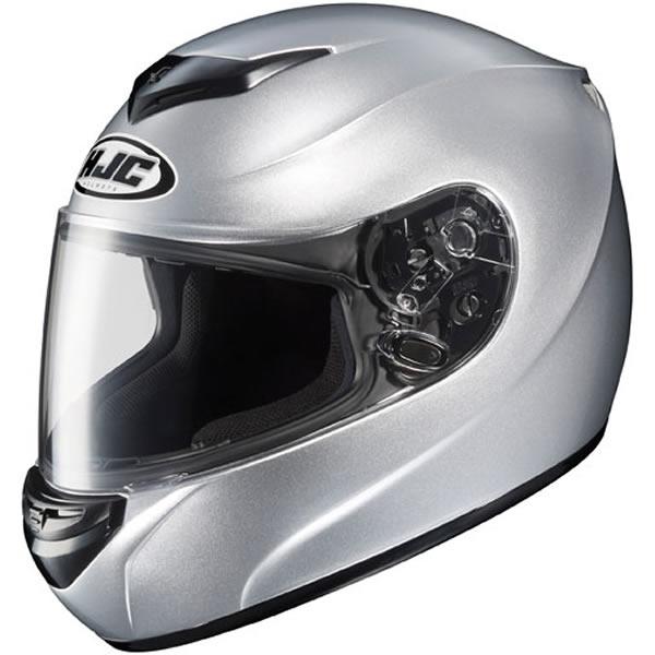 HJC CS-R2 Solid Motorcycle Helmet Silver