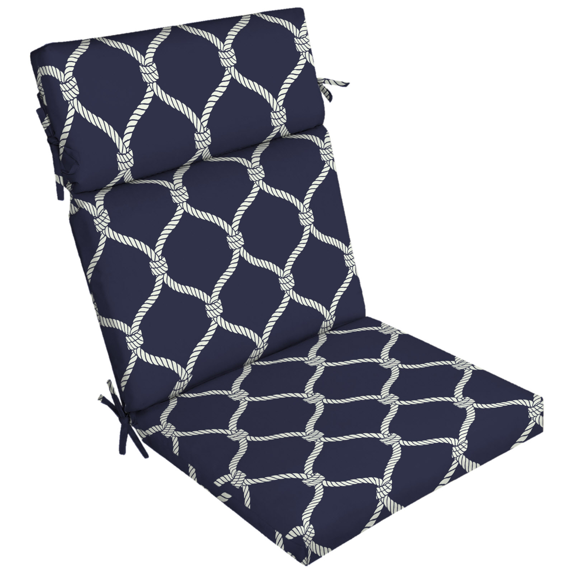 Better Homes And Gardens Nautical Rope Outdoor Dining Chair Cushion