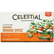 Celestial Seasonings Mandarin Orange Spice Tea Bags 20 ea (Pack of 2)