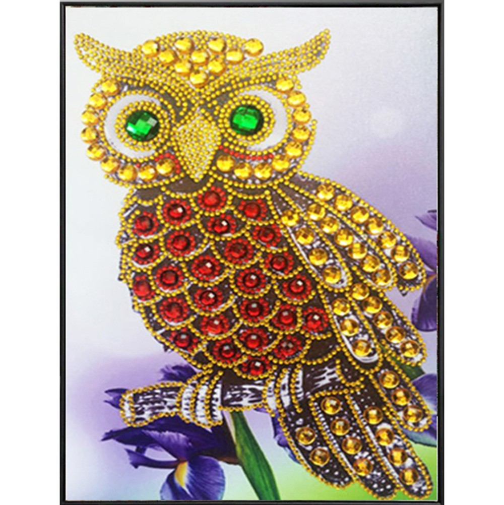 Partial Drill 5D Bird Diamond Painting Embroidery DIY Cross Stitch Kit Art Draw