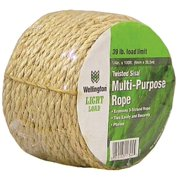 Wellington M1016C0100 Rope, 39 lb Working Load Limit, 100 ft L, 1/4 in Dia, Sisal