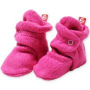 Zutano Booties Newborn Fleece Baby Booties For Baby Girls Winter Slipper Socks  - Fuchsia - 3 Months - Zutano Cozie Booties