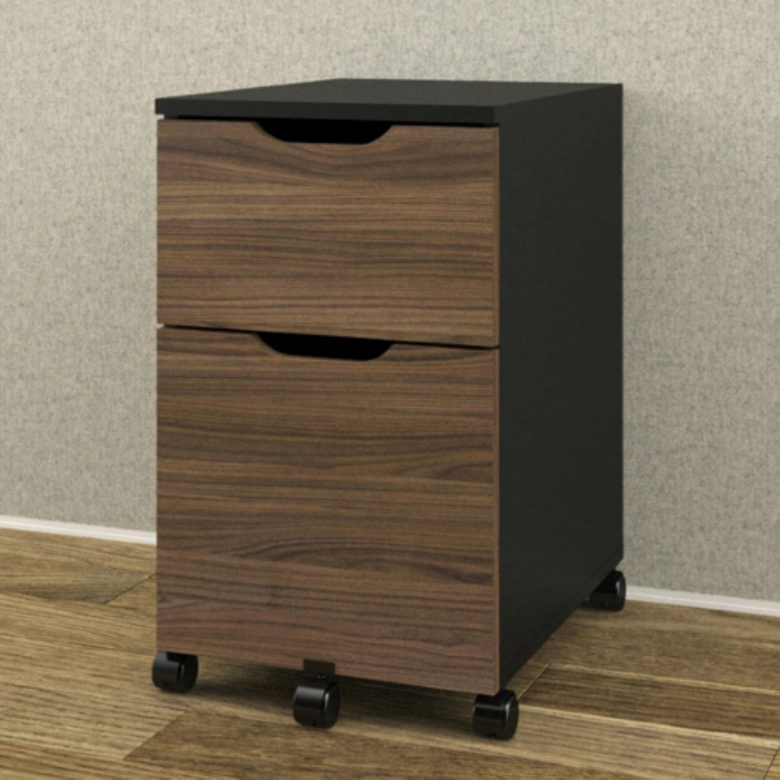 Nexera 2 Drawer Vertical Wood Filing Cabinet, Multple finishes