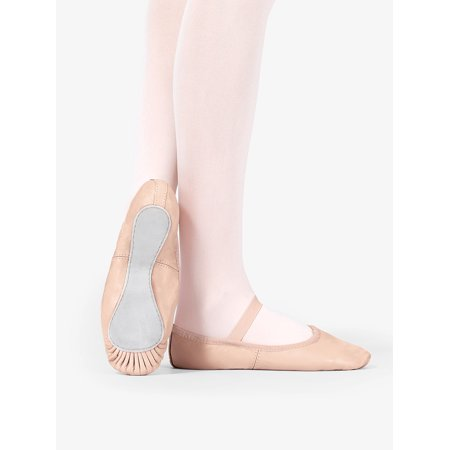 Child Premium Leather Full Sole Ballet Shoes (Quilted Ballet Shoes)