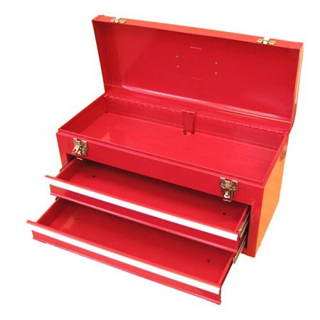 excel 2 drawer portable tool box. Black Bedroom Furniture Sets. Home Design Ideas