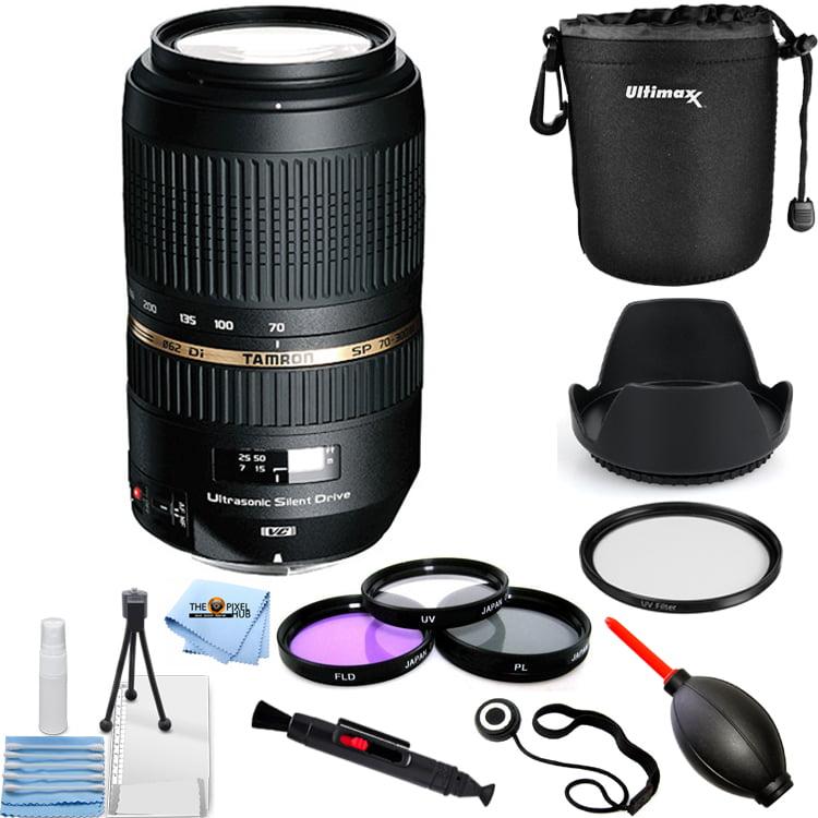 Tamron SP 70-300mm f/4-5.6 Di VC USD Zoom Lens for Nikon DSLRs PRO KIT
