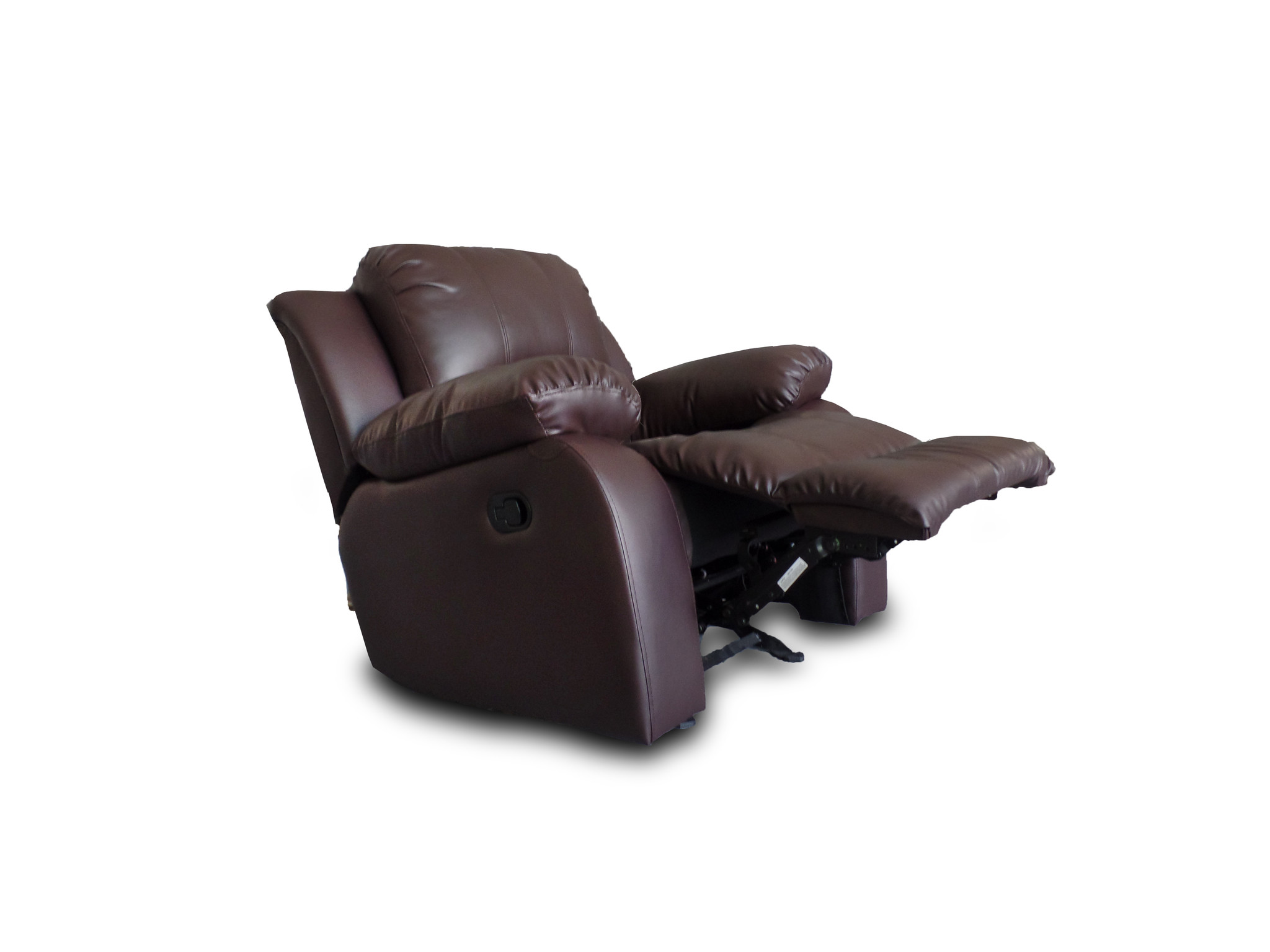 Classic Oversize and Overstuffed Single Seat Bonded Leather ...