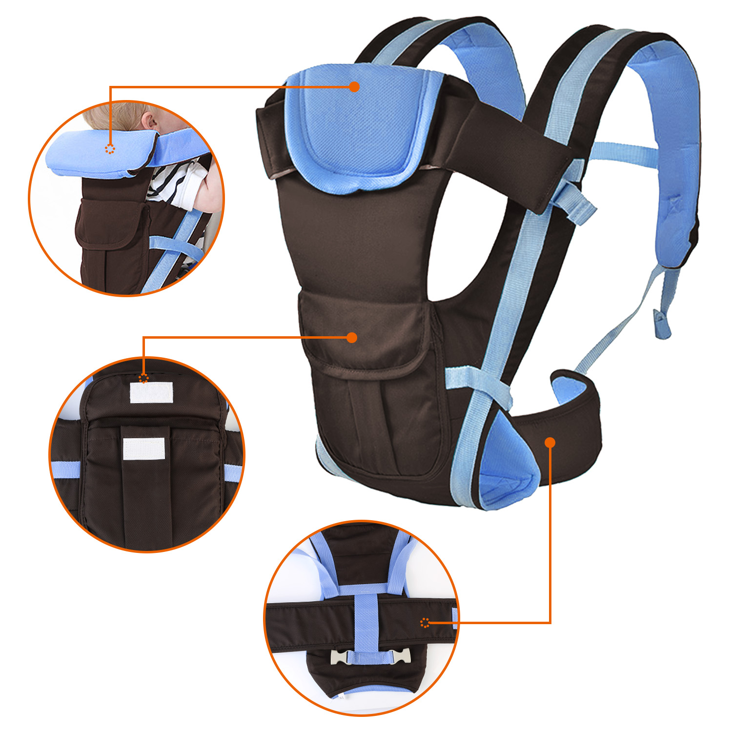 Blue Baby Carrier by GPCT