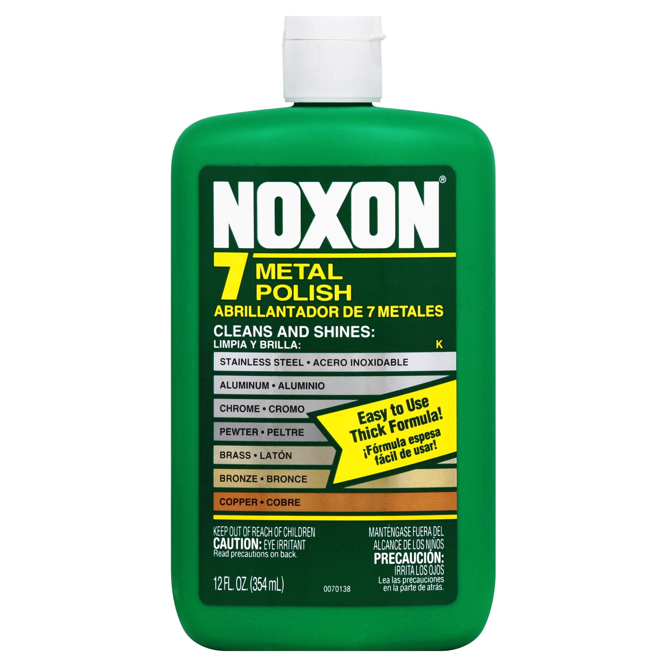 Noxon 7 Liquid Metal Polish, 12oz Bottle for Brass, Copper, Stainless, Chrome, Aluminum, Pewter & Bronze