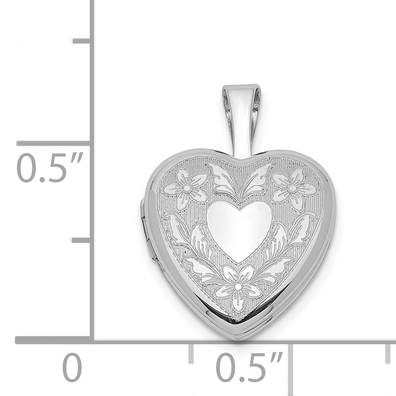 5 STERLING SILVER 925 HEART CHARMS PENDANTS 12 MM