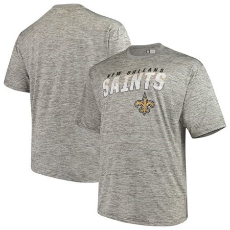 super popular 0798f b864c Men's Majestic Heathered Gray New Orleans Saints Big & Tall Last Chance Ply  Reflective T-Shirt