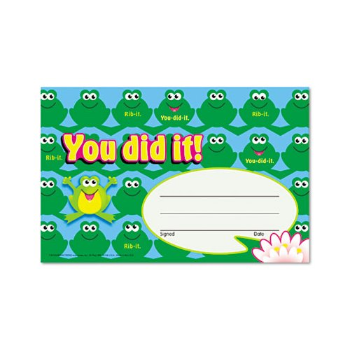Trend Enterprises You Did it Frogs Name Tag Notepad