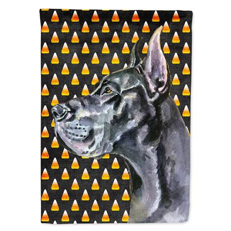 Black Great Dane Candy Corn Halloween Flag Canvas House Size](Great Dane Horse Halloween)