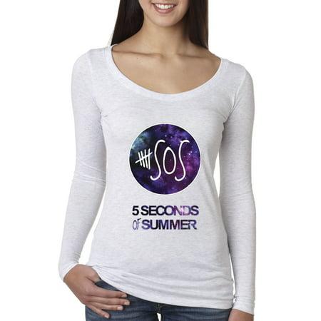New Way 215 - Women's Long Sleeve T-Shirt Sos 5 Seconds Of Summer
