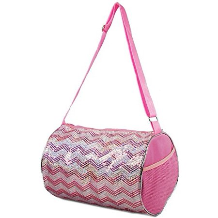 50c40f7c302d 1 Perfect Choice - 1 Perfect Choice Kid s Girls Dance Chevron Wave Sequin  Duffle Bag Gymnastics Cheer (Light Pink) - Walmart.com