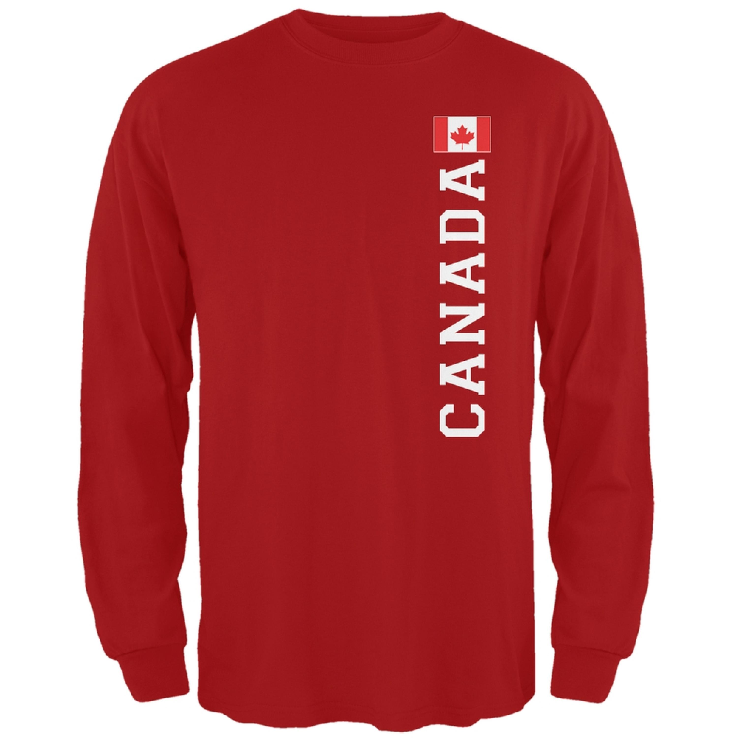 World Cup Canada Red Adult Long Sleeve T-Shirt