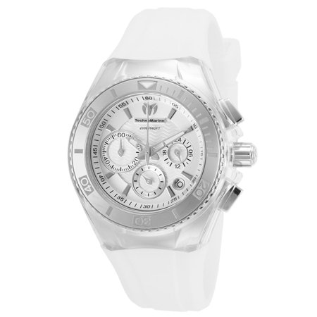 Technomarine TM-115038 Women's Cruise Original Silver Dial Interchangeable Strap Chrono Dive Watch