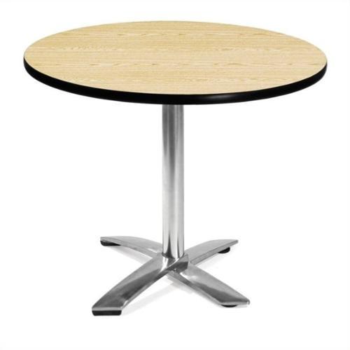 "OFM 36"" Round Folding Table in Oak"