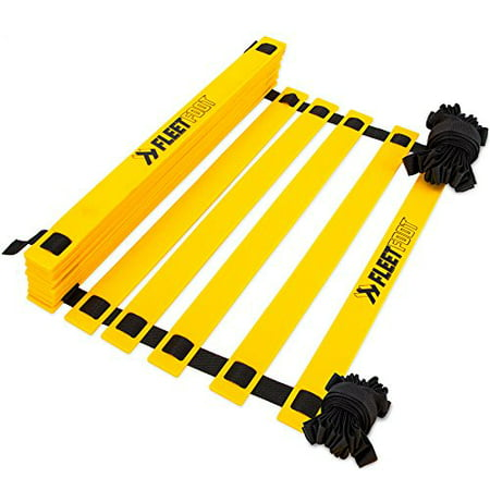 Crown Sporting Goods Fleetfoot Speed & Agility Training Ladder for Football, Soccer, 20 (Speed And Agility Training For Soccer Players)