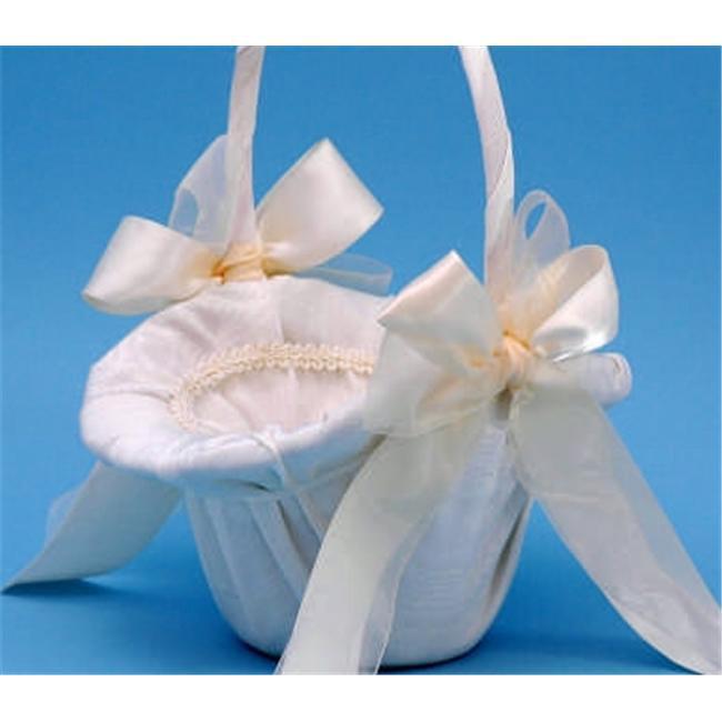 Beverly Clark 4U Tres Beau Flower Girl Basket - White