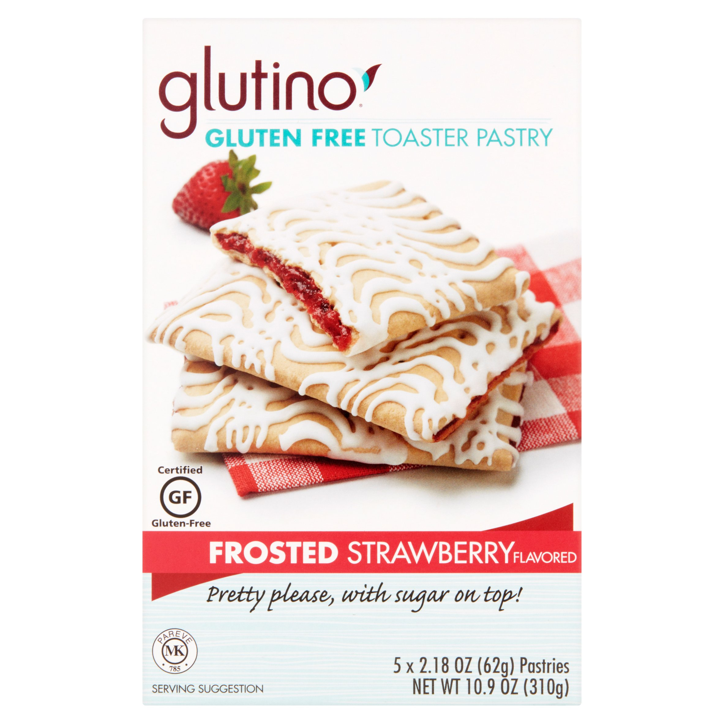 Glutino Frosted Strawberry Flavored Pastries, 2.18 oz, 6 pack by Glutino, a Division of Boulder Brands USA, Inc.
