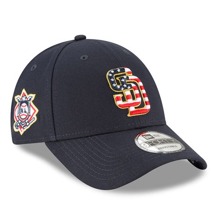 San Diego Padres New Era 2018 Stars & Stripes 4th of July 9FORTY Adjustable Hat - Navy - OSFA - 4th Of July Baseball Hats