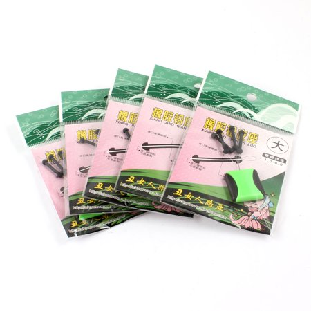 Unique Bargains 4 in 1 Rubber Fishing Floaters Bobbers 15mm Long 5 Pcs - image 1 of 1