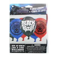"Marvel Black Panther 12"" Party Balloons, 6-Pack"