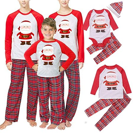 Christmas Family Matching Pajamas Set Adult Mens Womens Kids Sleepwear Nightwear (Christmas Jammies Halloween)
