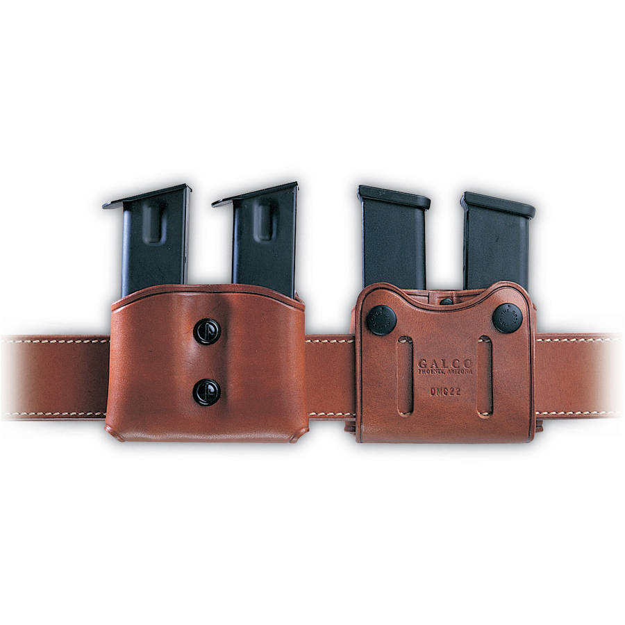 Galco DMC Pouch, Fits Double Stack Magazines 45ACP, Ambidextrous, Tan Leather by Galco