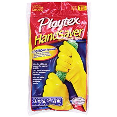 Playtex Handsaver Latex Gloves, Large