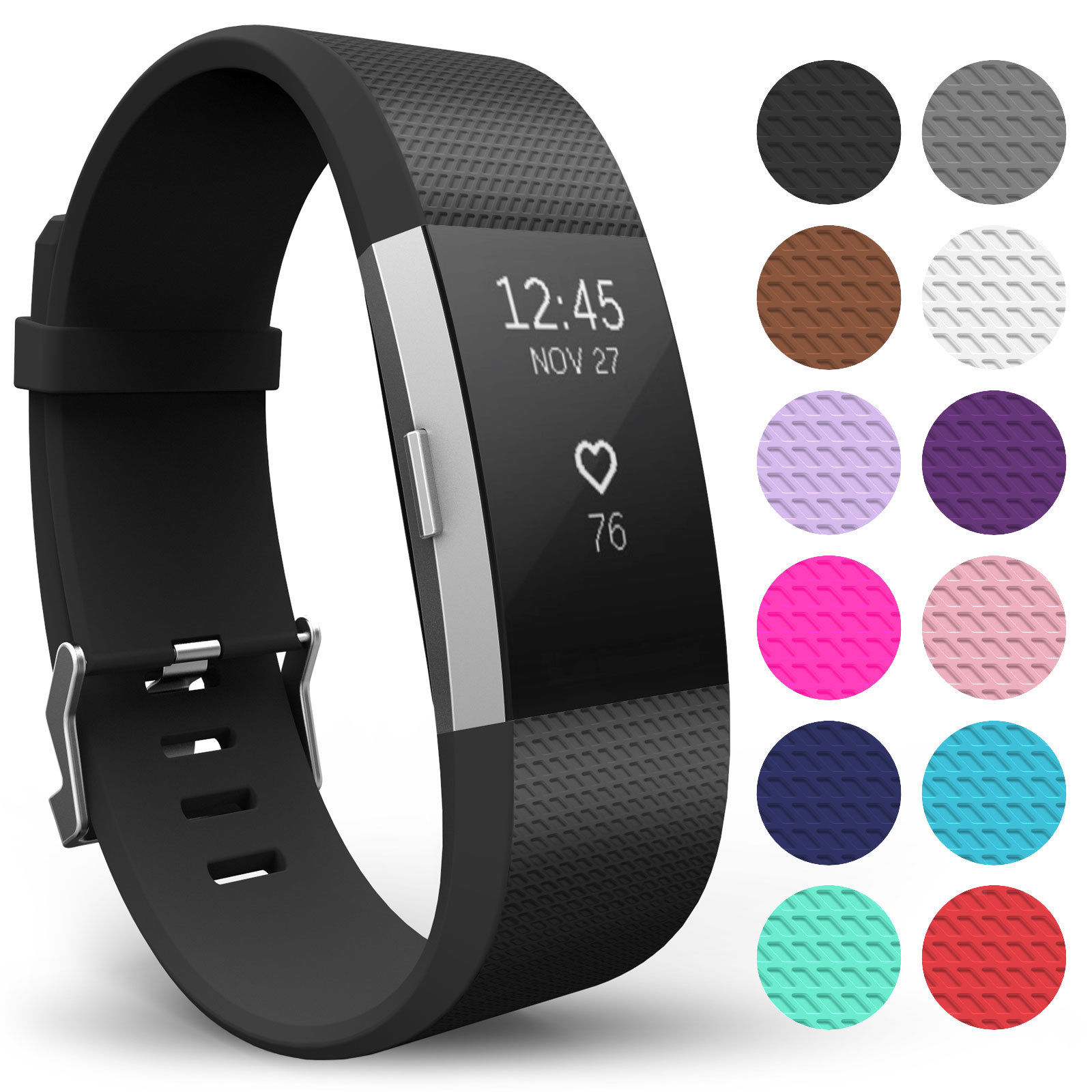 Fitbit Charge 2 Bands, Soft Accessory Replacement Wristband Strap Fitbit Watch Band