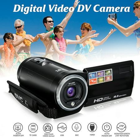 720P FULL HD Camcorder Digital Video Camera DV 2.7 TFT LCD Screen 16x Zoom 270 Degrees Rotation for Sport/Short Films Video Recording