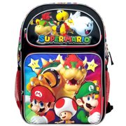 "Backpack - Super Mario Bros - Super Bowser 16"" New NN43718"