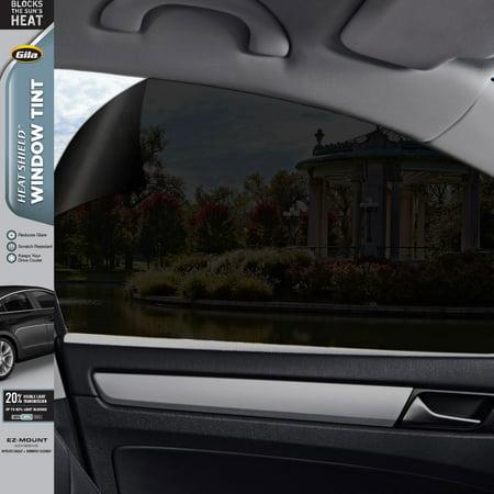 Gila® Heat Shield 20% VLT Automotive Window Tint DIY Heat Control Glare Control Privacy 2ft x 6.5ft (24in x (Shield Tine Rear)