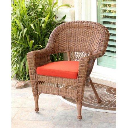 """36"""" Honey Brown Resin Wicker Outdoor Patio Garden Chair ..."""