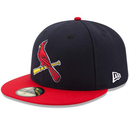 St. Louis Cardinals New Era Alternate 2 Authentic Collection On-Field 59FIFTY Fitted Hat - Navy/Red Mlb 59fifty Cap