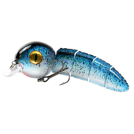 15.2cm 40g Multi Jointed Fishing Lure Lifelike Artificial Wobbler Hard Bait Swimbait Crankbait with Treble Hook for Pike Bass Fishing thumbnail