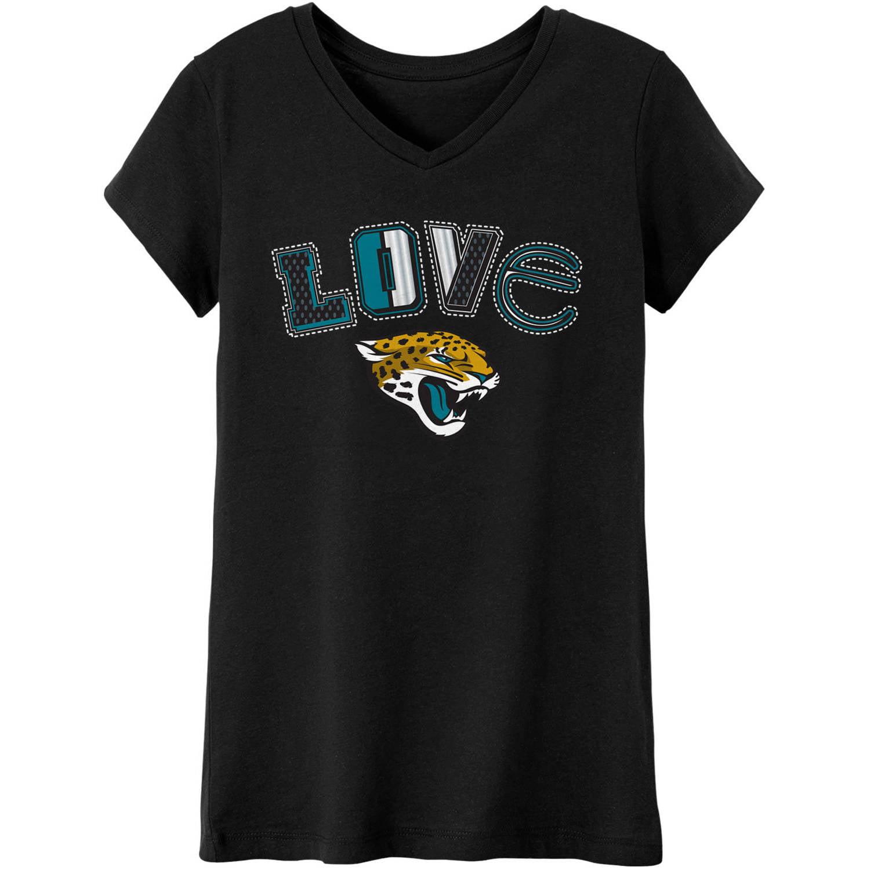 NFL Jacksonville Jaguars Girls Short Sleeve Cotton Tee
