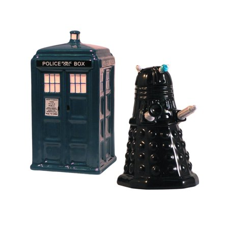 Doctor Who Tardis V. Dalek Salt And Pepper Shakers Police Box Gift Kitchen