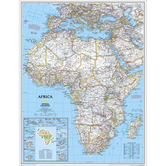 National Geographic RE00620052 Map Of Africa - Enlarged
