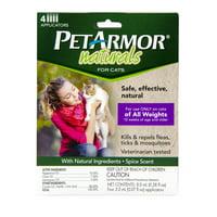 PetArmor Naturals Topical Flea & Tick Treatment for Cats, 4 Treatments