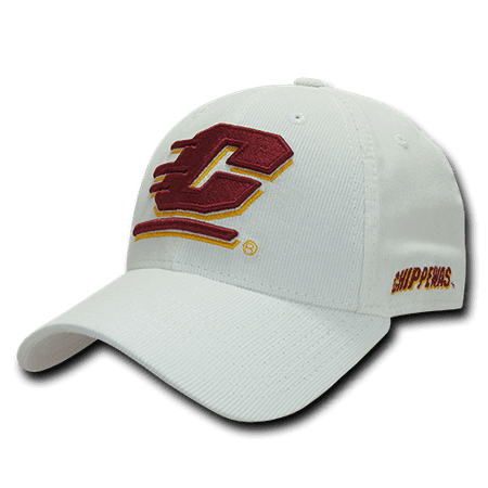 NCAA Central Michigan University Chippewas Structured Corduroy Baseball Caps Hat Central Michigan University Baseball