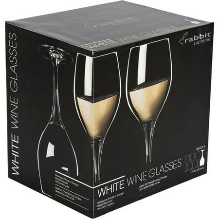 rabbit white wine glasses set of 4. Black Bedroom Furniture Sets. Home Design Ideas