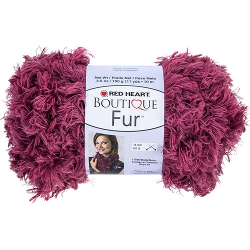 Red Heart Boutique Fur Yarn, Available in Multiple Colors