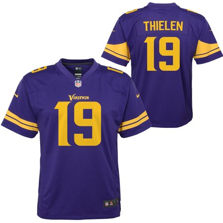 info for 16a75 34a81 Adam Thielen Minnesota Vikings Nike Youth Color Rush Alternate Player Game  Jersey - Purple