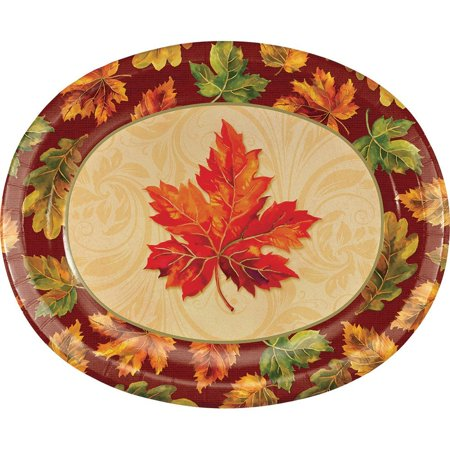 Fall Flourish 8 Piece Oval Paper