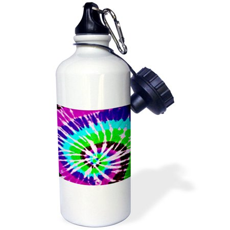 3dRose Tie Dye Art 2, Sports Water Bottle, 21oz - Tie Dye Bottles