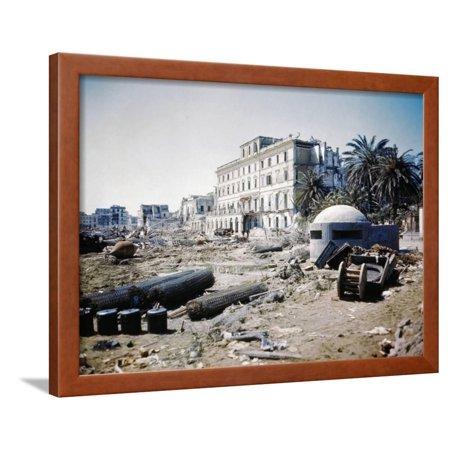 War-Ravaged Streets of Anzio Framed Print Wall Art
